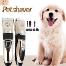Electrical Pet Hair Trimmer Rechargeable Pet Dog Cat Low-Noise Hair Clipper Grooming Shaver Cut Machine Set +Comb Head(China)