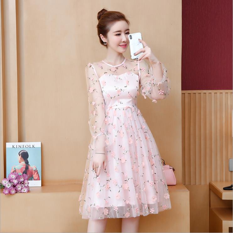 2019 new mesh super fairy sweet dress