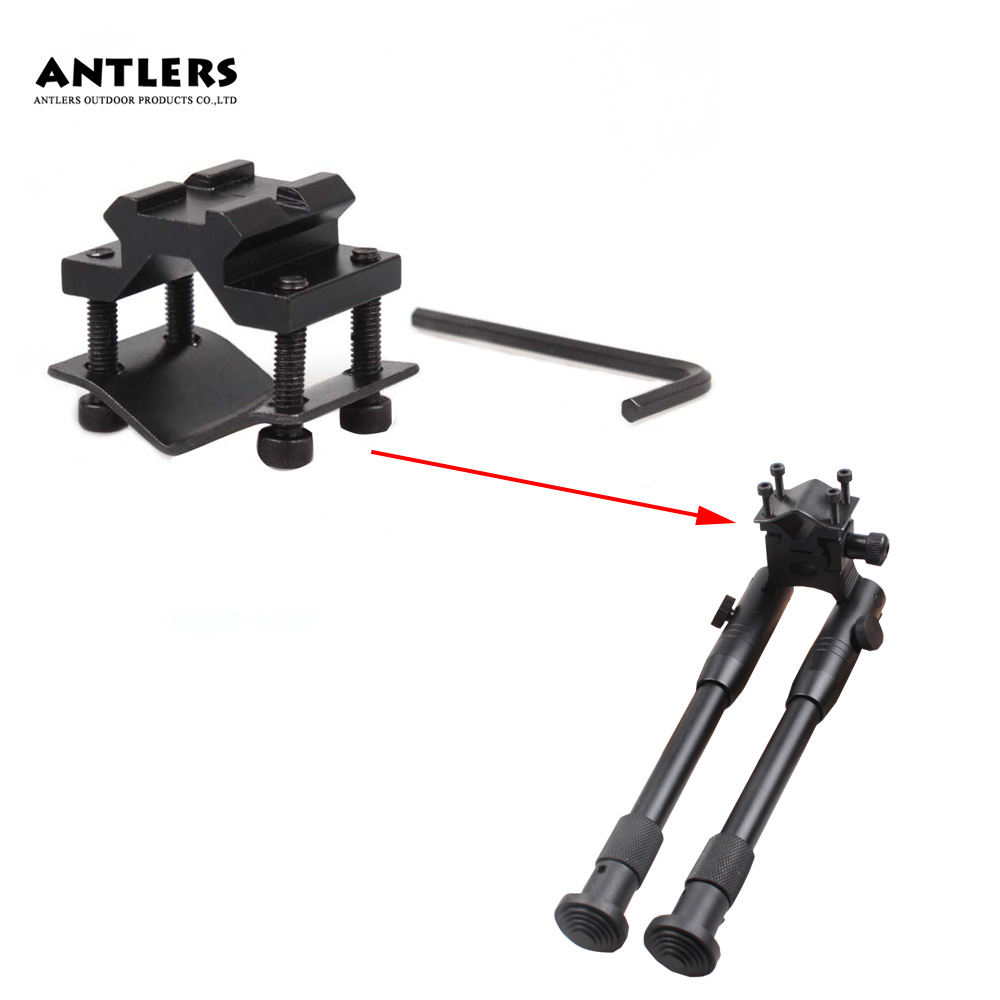 Hunting 8''-9.65'' Heavy Duty Tripod Universal Bipod Mount + free Double rail Barral Tube Adapter Airsoft Toy Party