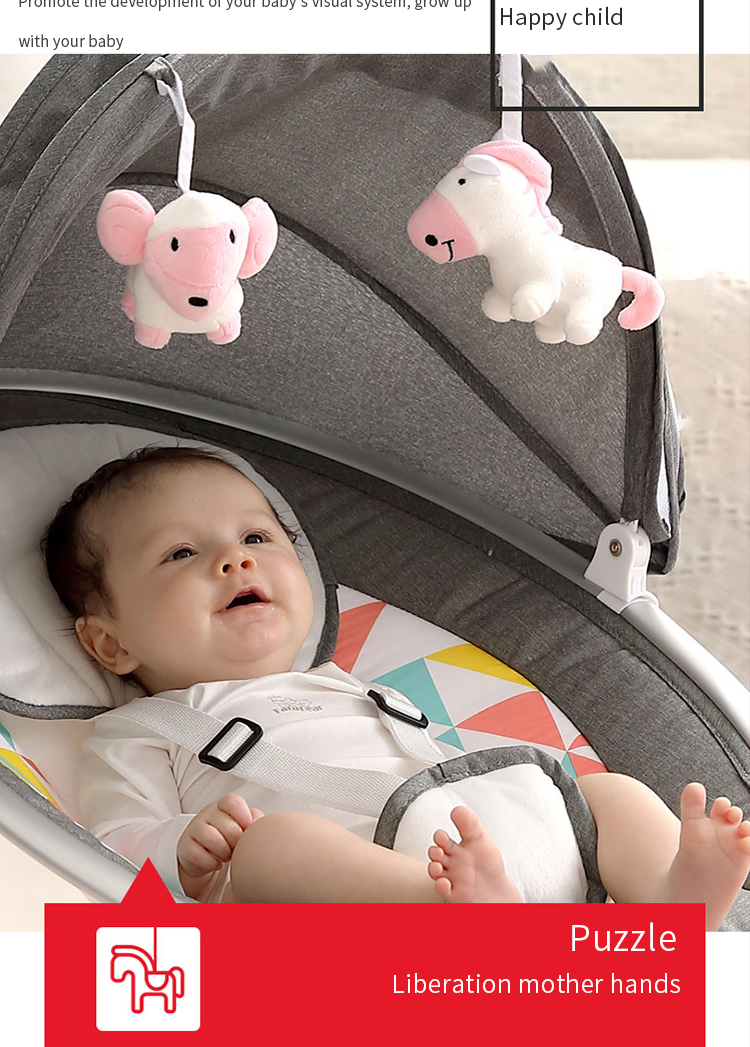 H903309f9d6574a71aa6983e9ad26da08Y Baby rocking chair newborn shaker baby electric cradleartifact with sleeping comfort