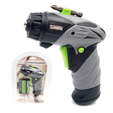 цена на Cordless Screwdriver Mini Battery Operated Screwdriver With LED Light Electric Screwdriver Power Drill Portable Repair Tool Sets