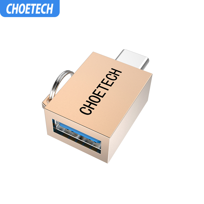 CHOETECH Mini Converter Metal Male To Female USB-C To USB 3.0 OTG Adapter For Android Smartphones Type C OTG Adapter
