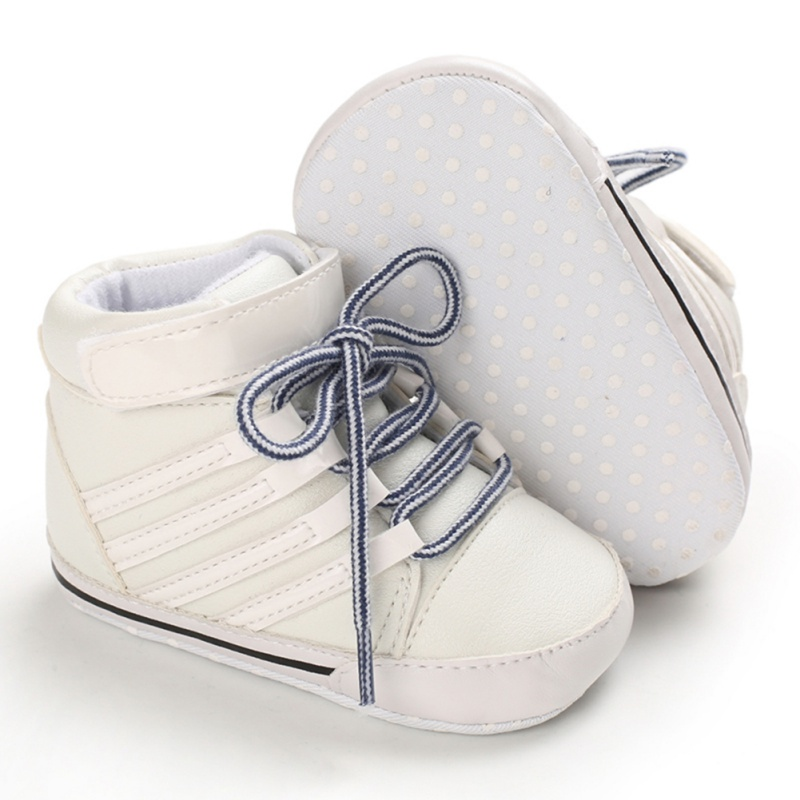 Infant Baby Girl Shoes PU Anti-slip Soft Crib Shoes Leather Sneakers Prewalker I