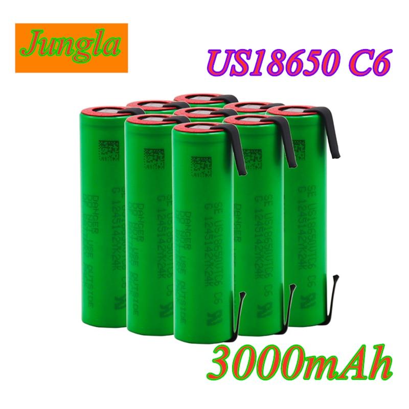 2020 VTC6 3,7 в 3000 мАч 18650 литий ионная батарея 30A Разрядка Для US18650 VTC6 инструменты батареи для электронных сигарет + никелевые листы DIY|Перезаряжаемые батареи|   | АлиЭкспресс