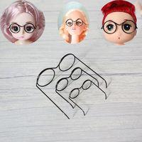 Mini gafas para muñeca de Metal negro, accesorios para fabricación de muñecas, 3 tamaños, 5 uds.