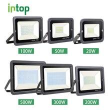 Светодиодные настенные прожекторы для воды прожектор светильник 10 Вт 20 Вт 30 Вт 50 Вт 100 Вт 150 Вт 200 Вт 300 Вт 500 Вт Водонепроницаемый отражатель IP65 220 В прожектор светильник для улицы