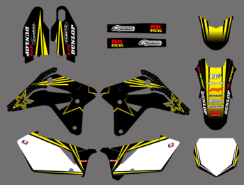 NEW TEAM DECALS GRAPHICS BACKGROUNDS STICKERS FOR Suzuki RMZ450 RM-Z 450 RMZ 2007 Motorcycle Graphic Decal Sticker