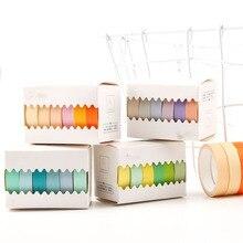6 рулонов/упаковка японская бумажная лента ручка сплошной цвет набор японский Ветер ручка база сплошной цвет декоративная лента