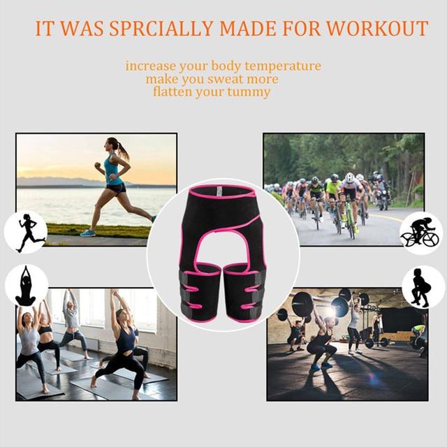 Corset Secret Neoprene Shaperwear Women High Waist Embossed Thigh Trimmer Tummy Control Sauna Effect Waist Trainer Slimming Belt 2