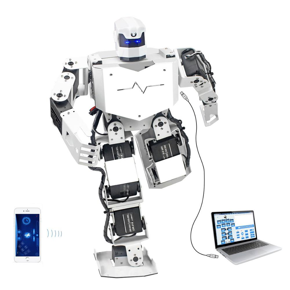 16DOF Biped Humanoid Robot Kit with Free APP, MP3 Module, Detailed Video Tutorial Support Sing Dance(Assembled) image