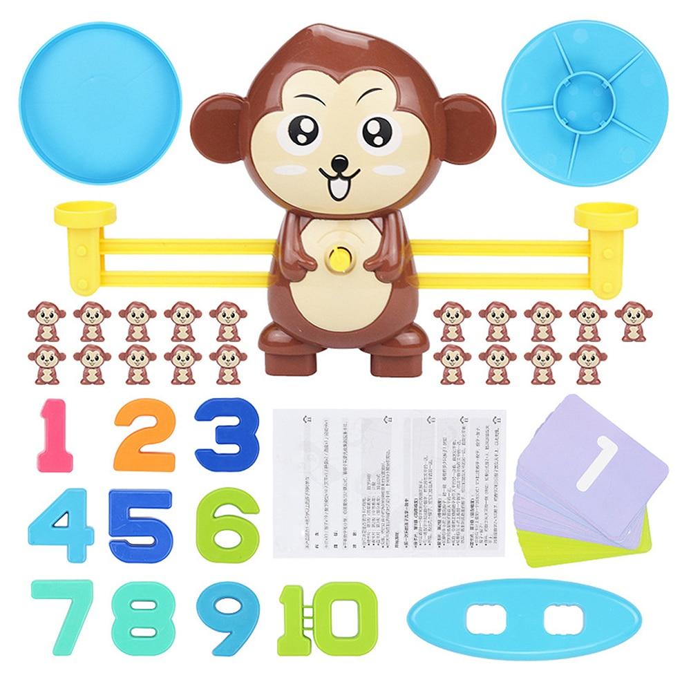 Juego de matemáticas tablero de Juegos Juguetes mono gato juego de equilibrio balanza número juego de equilibrio niños juguete educativo para aprender añadir y restar