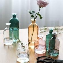 Vaso di Soggiorno Fiori Secchi Nordic Ins Stile di Vetro Trasparente Dill Accessori Decorazione Della Casa Vasi di Fiori Per Le Case