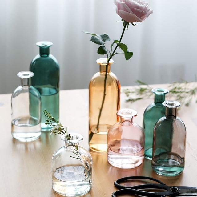 Vase salon fleurs séchées nordique Ins Style verre Transparent aneth décoration de la maison accessoires Vases à fleurs pour les maisons Vases 🎁 Idées Cadeaux Cocooning.net