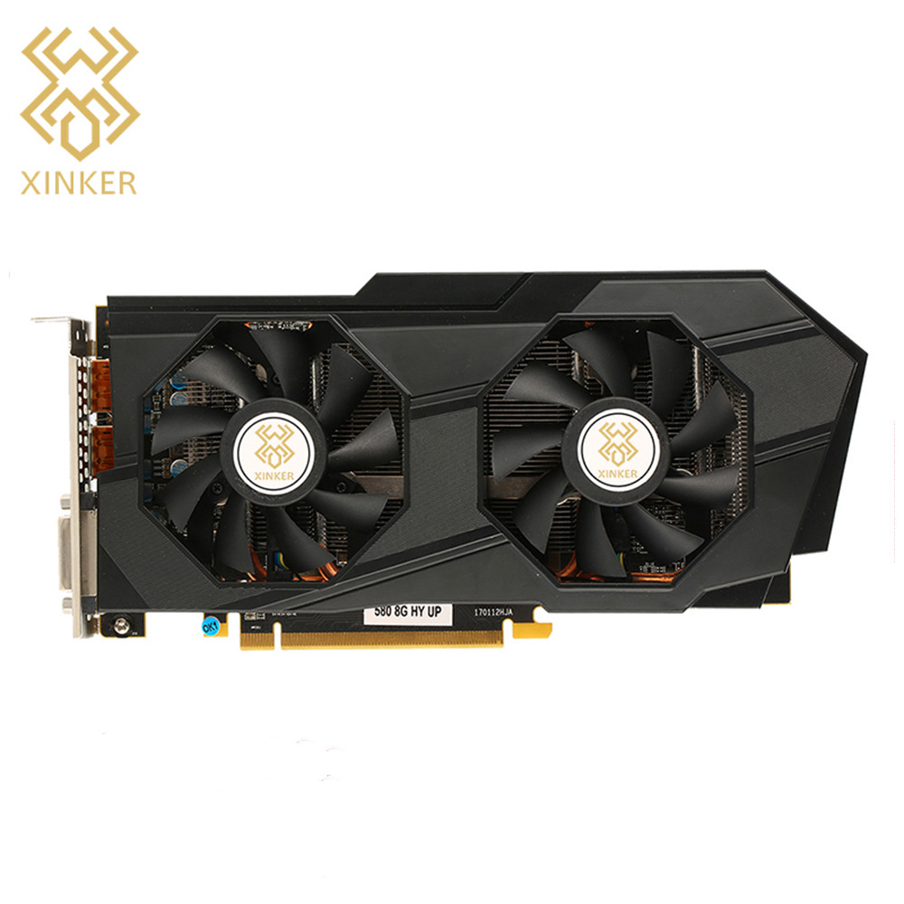 DVI-D PCI-E 3.0 x16 8GB 256-bit GDDR5 MSI Radeon RX 580 MINER 8G Mining Card