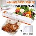 Зеленый 200 в бытовой пищевой вакуумный упаковщик упаковочная автоматическая машина пленка упаковщик вакуумный упаковщик в том числе с 10 шт ...