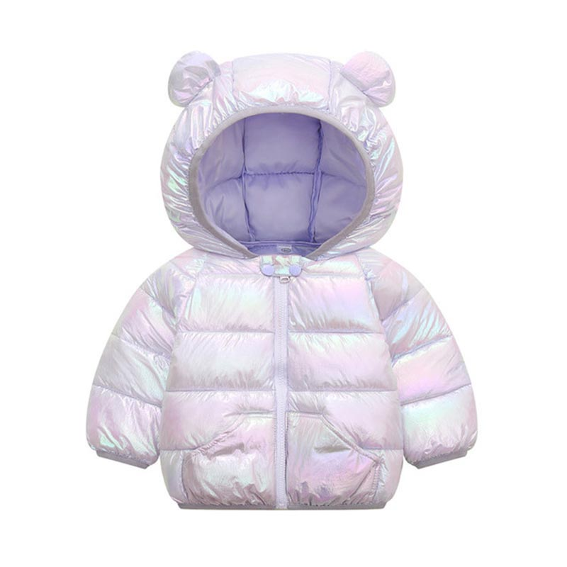 Children Solid Color Coat Boys Trendy Cotton Clothes Girls Fashion Hooded Outerwear Kids Casual Warm Jacket Kids Winter Clothes 4