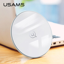 10W Qi wireless charger for iPhone X XS Max XR 8 plus,USAMS wireless charging pad fast charge for Samsung S8 S9 plus note 9 8 s7