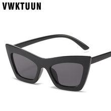 Vwktuun preto óculos de sol feminino cat eye óculos condução motorista máscaras uv400 quadrado óculos de sol para mulher do vintage simples eyewear