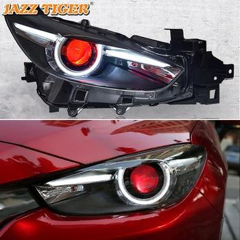 Car Styling LED Headlight For For Mazda 3 Axela 2014 - 2018 LED DRL LED Red Devil Eyes Light Projector Lens Head Lamp Assembly