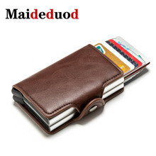 цена на Maideduod 2020 NEW Vintage Business 2 Aluminum Wallet for Card Holder Card Wallet Case ID Metal Credit Card Holders With RFID