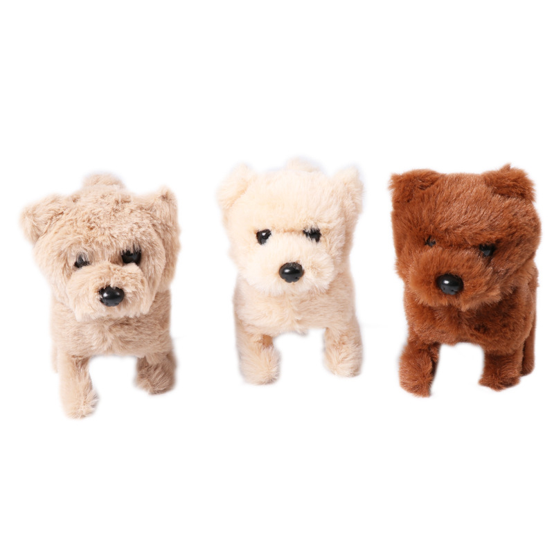 Cross Border Hot Sales Electric Bear Gou Doll Forward Backward Will Call Dog Model Little Bear Plush Toys Manufacturers Direct S