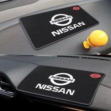 Alfombrilla de PVC antideslizante con emblema para salpicadero de coche, accesorio para NISSAN QASHQAI J10 J11 Juke 2011 2008 2018 2019
