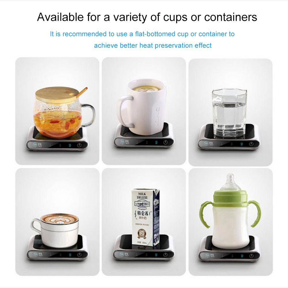 70 90 110℃ 3 Gear offee Mug Warmer Cup Heater Smart Thermostatic Hot Tea Makers Heating Coaster Desktop Heater for Coffee Milk