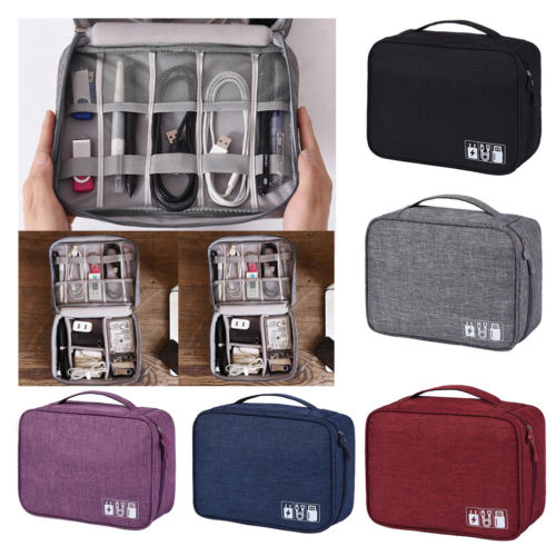 Electronic Accessories Cable Organizer Bags Travel USB Charger Storage Case Hangeble Pouch Container Case Clutch Holder Backpack
