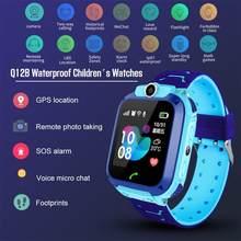 Детские Смарт-часы Q12 с играми, GPS позиционирование, Двухсторонний вызов, 1,44 дюйма, трекер SOS, сигнализация с одной кнопкой для детей