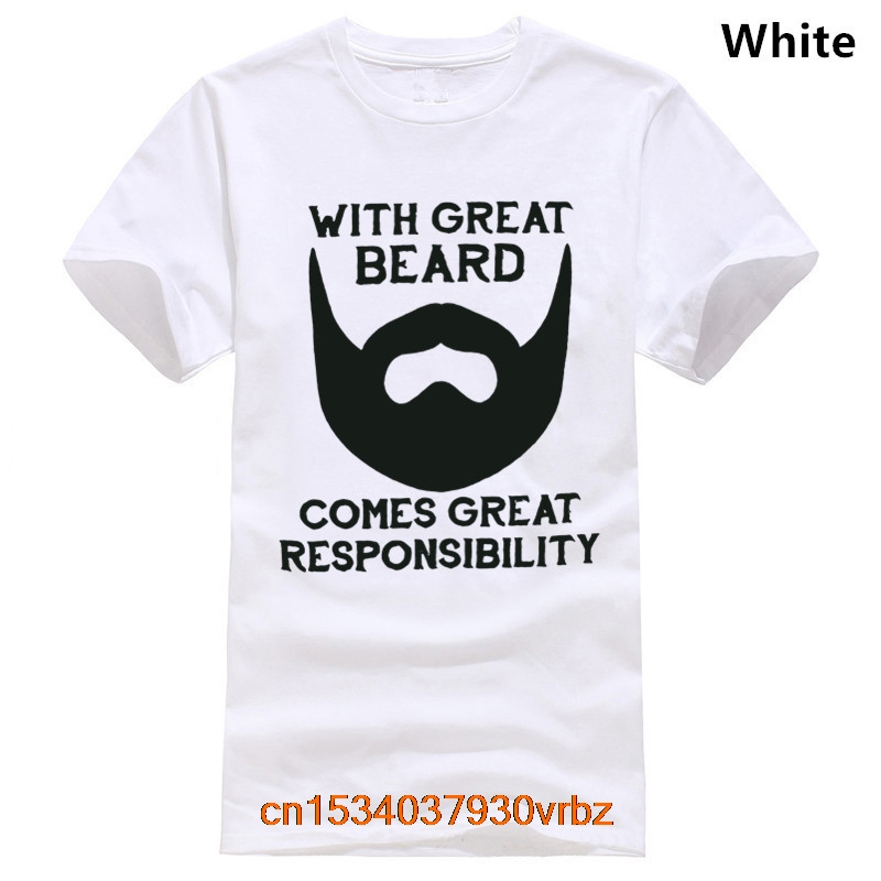 With Great Beard Comes Great Responsibility T Shirt Mens Daddy Husband Anniversary Dad Father T-Shirt S-3XL HEATHER MILITARY