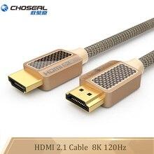 CHOSEAL Ultra yüksek hizli 8K HDMI kablosu 2.1 48Gbps 120Hz HDMI 2.1 için Apple TV Nintendo anahtarı xbox PS4 projektör HDMI 2.1 kablosu