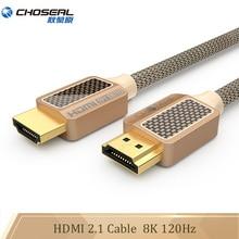 Choseal ultra alta velocidade 8k hdmi cabo 2.1 48gbps 120hz hdmi 2.1 para apple tv nintendo xbox ps4 projetor hdmi 2.1 cabo