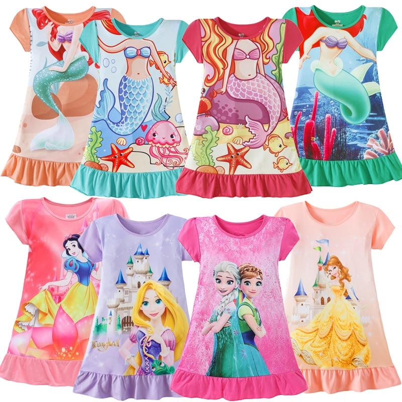 2020 Snow White Princess Dress Girls Kids Clothes Belle Anna Elsa Rapunzel Minnie Mouse Dress Birthday Dresses Mermaid Costume