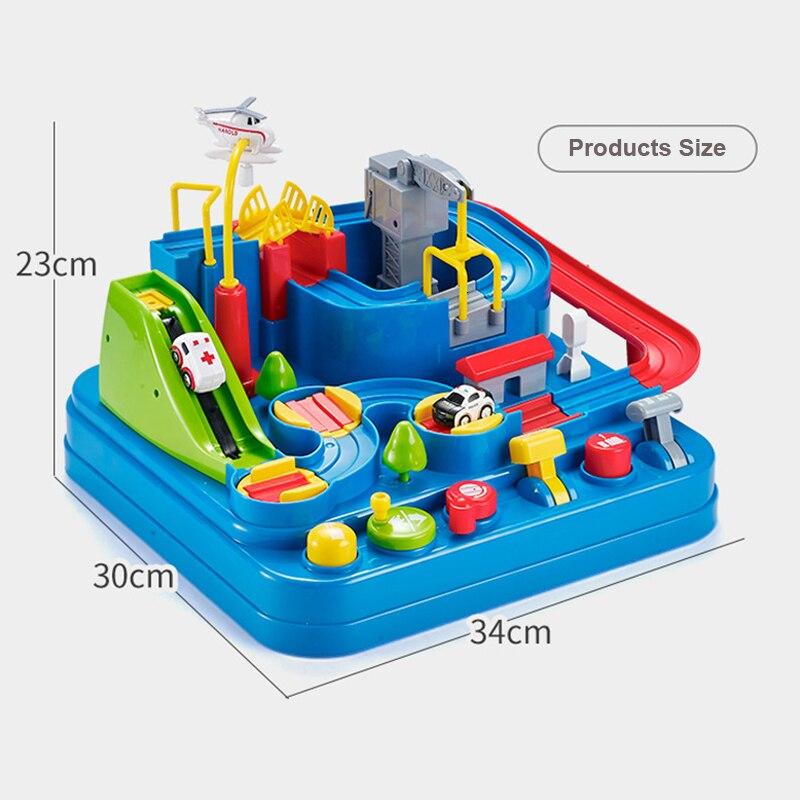 Petit train piste grande aventure costume voiture manuel véhicule Rail voiture jouets pour enfants maison jouer jouets interactifs - 6