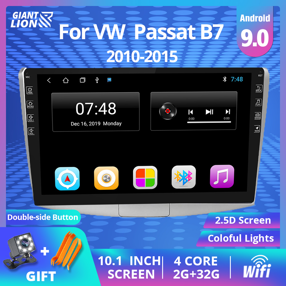 Car Radio Multimedia Player For <font><b>VW</b></font> Volkswagen Passat B7 B6/<font><b>Magotan</b></font> 2010-2015 2Din Android 9.0 Autoradio Radio Cassette Recorder image