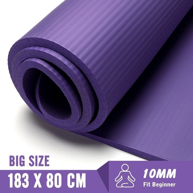 Permalink to 183X80cm Non-slip Yoga Mats For Fitness Mat Tasteless Pilates Gym Exercise 10MM Fitness Sports Pad With Bandages Big Size Tapete