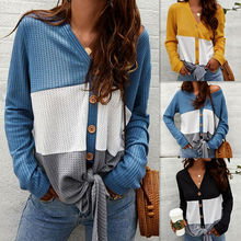 Women knitted Tee Long Sleeve T-shirts Casual V Neck Tops Plus Size plus size cowl neck long sleeve tee