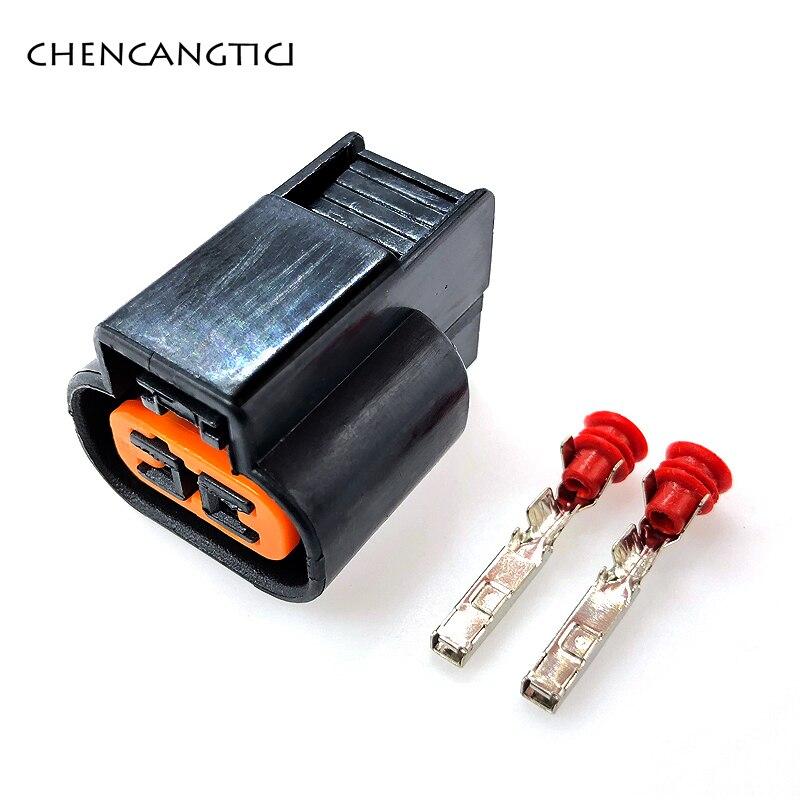 5 sets/pcs Kum Auto 2 Pin/way Female ABS Sensor Fog Lamp Automotive Wiring Harness Connector PB625-02027 For Mitsubishi Souast