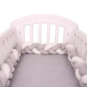 4M Baby Bumper Bed Braid Knot Pillow Cushion Bumper for Infant Crib Protector Cot Bumper Room Decor