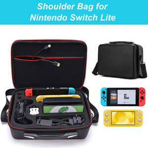 Image 2 - Bevigac Portable Travel Carrying Case Storage Messenger Bag Organizer with Shoulder Strap for Nintendo Switch Lite Accessories
