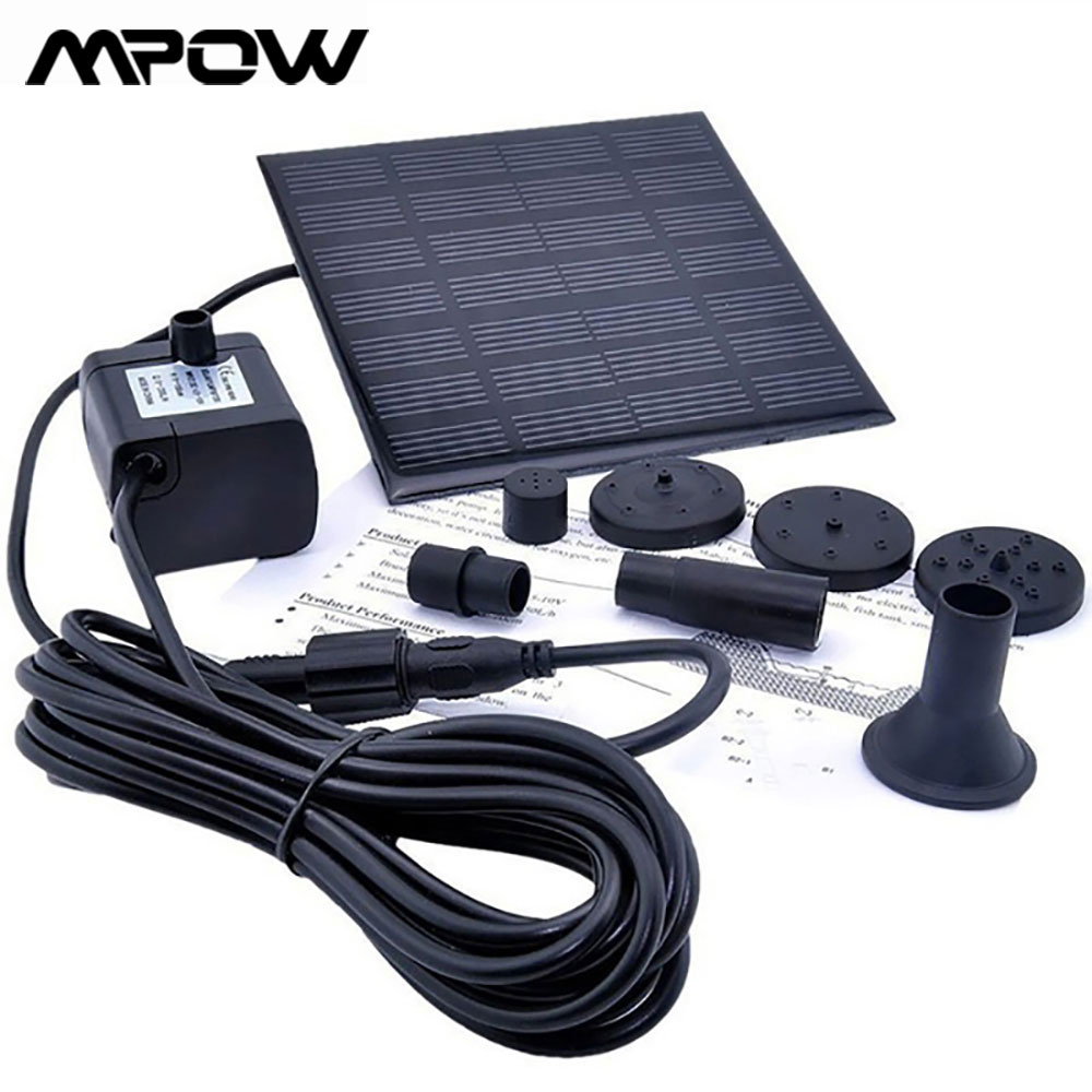 Solar Water Pump Solar Fountain Kit For Garden Pool Pond Water Fountain Aquarium DC 7V 180L/H  Automatic Solar Powered Pump Kit