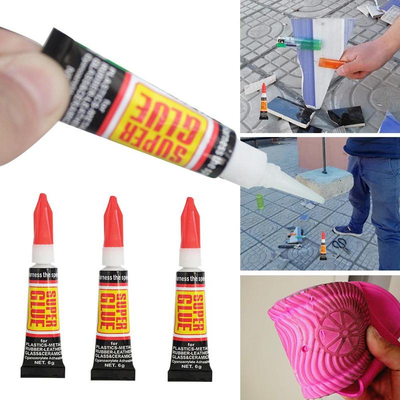 5PCS 6g Shoe Instant Glue Strong Oily Glue Metal Leather Rubber Plastic Fabric Glass Wood Material Adhesive Liquid Super Glue
