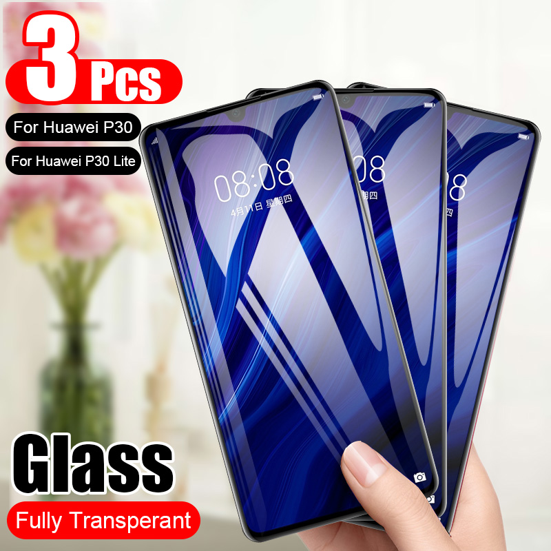 3Pcs/Lot Protective Tempered Glass  For Huawei P30 P30 Lite Screen Protector  Glass On The For Huawei P30 Lite Glass Film