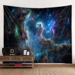 Universe Space Nebula Big Art Tapestry Printed Wall Covering Psychedelic Wall Hanging Beach Towel Mandala Thin Blanket Yoga