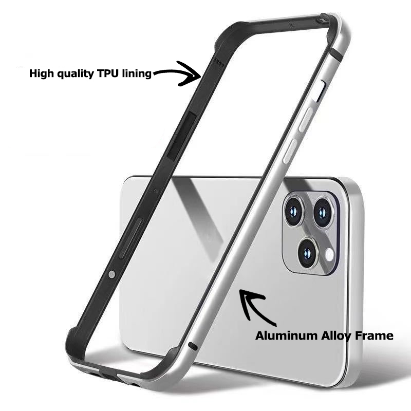 Luxury Aluminum Metal Silicone Bumper Protective Shell for IPhone 12 Mini 11 Pro Max 12 Pro 11Pro XR X Mobile Phone Accessories