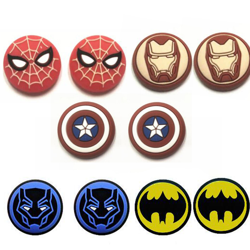 Spider Iron Bat Man Thumb Stick Grip Cap Thumbstick Joystick Cover Case For Sony PS3 PS4 Slim Xbox One 360 Switch Pro Controller