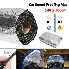 15 sqft Car Sound Deadener Mat Noise Bonnet Insulation Deadening Hood Engine Firewall Keep warm Aluminum Foam Sticker