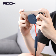 ROCK Double side Draadloze Oplader Zuignap Snelle Draadloze Opladen Pad Indicator Licht 15W Qi Lader voor iPhone XS 8 Huawei