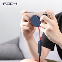 Rock duplo lado carregador sem fio ventosa rápida almofada de carregamento sem fio luz indicadora 15 w qi carregador para iphone xs 8 huawei