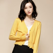 Knitwear Women's Cardigan Knitted Sweater Women Short Cardigans Women Tops Korean Style Female Cardigan 6343 KJ2746(China)